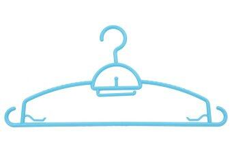 DMT ไม้แขวนเสื้ออย่างหนา 3แพ็ค x 5อัน (สีฟ้า)