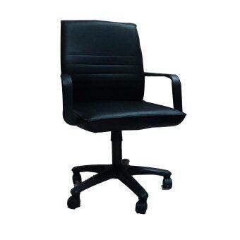 TGCF T01A เก้าอี้สำนักงานหุ้มหนัง - สีดำ