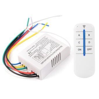 ข้อมูล รีโมทควบคุมสวิทช์ เปิด/ปิด 220V 4 Way Light Lamp Digital Wireless ขายดี