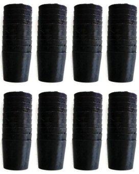 Papamami Pots Round Black Plastic กระถางพลาสติกกลม 2.5 นิ้ว 80 ใบ (สีดำ)