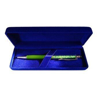 ปากกาคริสตัลประจำเดือนเกิด2 in 1 May-Emerald-PCS06