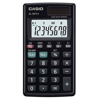 Casio เครื่องคิดเลข พกพา รุ่น SL-797TV-BK-W (Black)