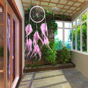 Harga Dream Catcher with Feather Wall Hanging Ornament Pink