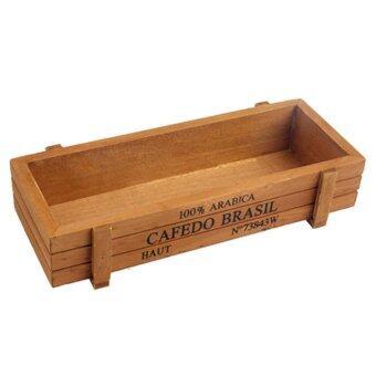 ไม้สี่เหลี่ยมเก็บกล่องใช้สำหรับพืชอวบน้ำ - intl