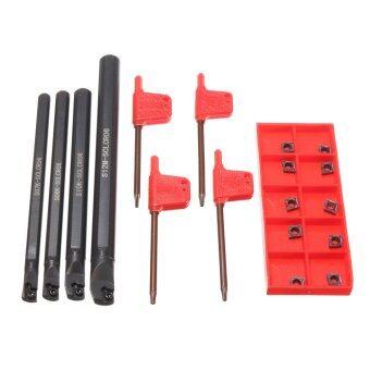 ชุด 7 8 10 12มม SCLCR06 เครื่องมือกลึงเจาะเปิดบาร์กับ 10 x CCMT0602 แทรก