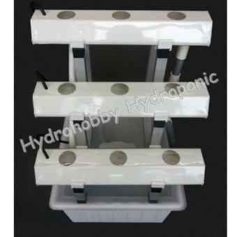 ไฮโดรโปนิกส์ hydrohobby sr mini set ขั้นบันได ล้อเลื่อน (สีขาว)