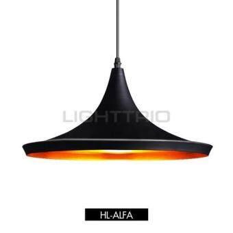 Lighttrio โคมไฟแขวนเพดาน สไตส์โมเดริ์น HL-ALFA/BK