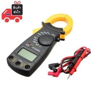 Digital Clamp Meter เครื่องวัดกระแสไฟฟ้าและแรงดัน มัลติมิเตอร์ (สีดำ)