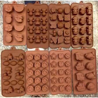 แม่พิมพ์ซิลิโคนเอนกประสงค์ เซตพิศษรวมลายสัตย์ 8 ชิ้น 8 ลายใช้สำหรับพิมพ์ช็อคโกแลต วุ้น ขนม น้ำแข็งหรือสบู่ได้ทั้งร้อนและเย็น