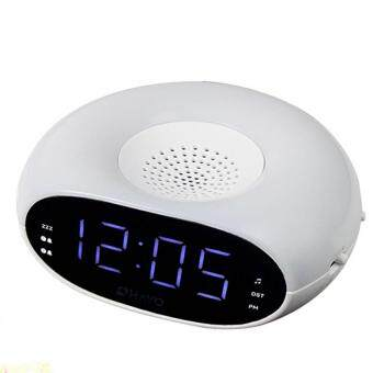 Harga Digital Home Table Dual Alarm Clock FM Radio with Night Light & Sleep Timer Snooze