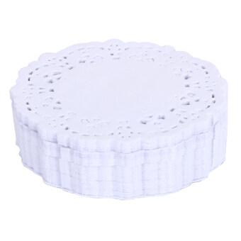 250ชิ้นเค้กใส่วงลูกไม้กระดาษหนังสือพิมพ์ปูเบาะกรอบเมนูติ่มซำ (3.5นิ้ว)