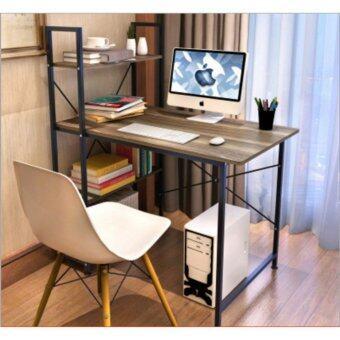 โต๊ะLoft Style ขนาด 1เมตร รุ่น BP216 โครงดำ-วอลนัท