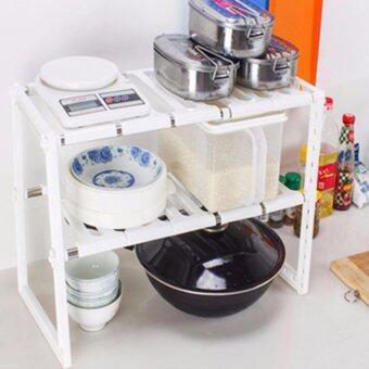 ชั้นวางของอเนกประสงค์ปรับความยาวได้ สามารถใช้ใต้ซิ้งล้างจานได้