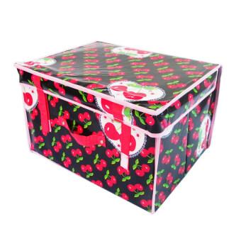 Replica Shop กระเป๋าจัดเก็บของอเนกประสงค์ ลาย Cherry Pink - สีดำ/แดง