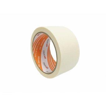 THAI KK เทปกาว เทปกระดาษกาวย่น เทปกาวขนาด 48 มม. x 20 หลา รุ่น KK Orange - สีครีม (ขายยกลัง 36 ม้วน)