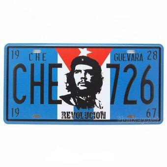 MonkeyAct ป้ายสังกะสีวินเทจ Che Guevara Revolution (ปั๊มนูน)