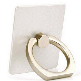 แฟชั่นแหวนโลหะอเนกประสงค์วงเล็บอเนกประสงค์รถยึดให้ท้าย 360 หมุนเวียนสำหรับโทรศัพท์มือถือ (ขาว)