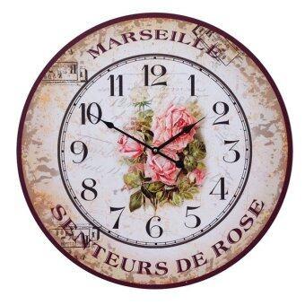 Kristra Home&Decoration 60CM.นาฬิกาแขวนผนัง แนววินเทจ รุ่น T70025