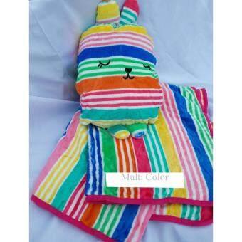 KH หมอนผ้าห่มกระต่าย Craftholic ลาย Rainbow