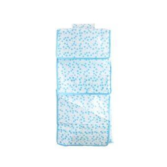 Replica Shop ชั้นผ้าพับได้แบบแขวนลายเชอรี่ - สีฟ้า