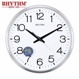 RHYTHM Japan นาฬิกาแขวนพลาสติก เครื่องเดินเรียบไร้เสียงรบกวน รุ่น CMG494BR