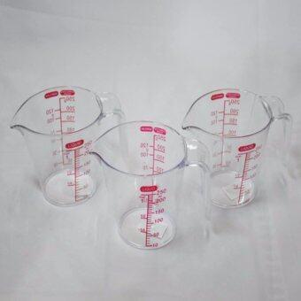 DD_Pro ชุดถ้วยตวง 250 g. พลาสติกใส 1 ชุดมี 3 ใบ