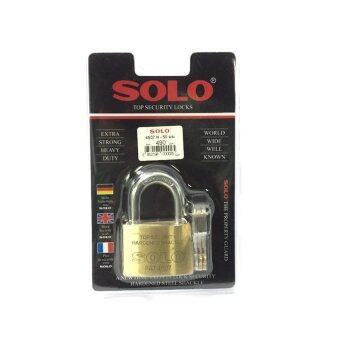 โซโล แม่กุญแจ กุญแจล็อค ทองเหลือง NO.4507N 55mm. ห่วงมาตรฐาน (สีทอง)