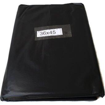 papamami Black Garbage bag ถุงขยะ ถุงใส่ขยะ ขนาด 36นิ้วx45นิ้ว บรรจุ 1 ก.ก (สีดำ)