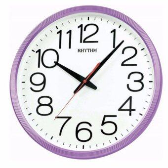 RHYTHM นาฬิกาแขวน รุ่น CMG495NR12 (สีม่วง/ขาว)