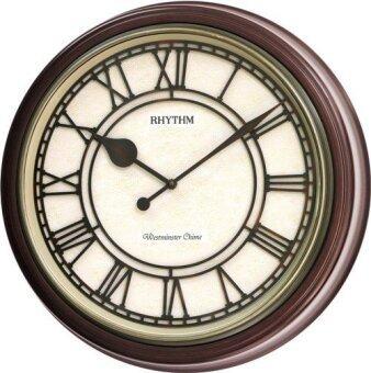 RHYTHM นาฬิกาแขวนไม้ รุ่น CMH740NR06 - Brown
