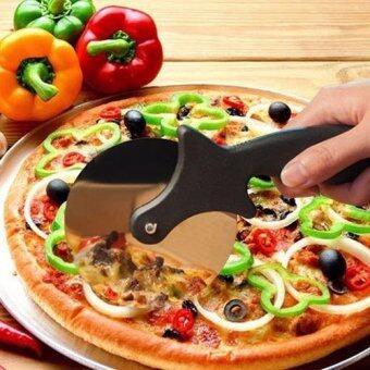 Stainless Steel Pizza Cutter มีดตัดพิซซ่า ,ขนมเค้ก สีแดง
