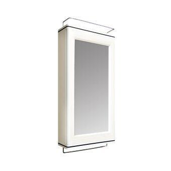 Step ตู้เก็บของในห้องน้ำ พร้อมกระจก - White