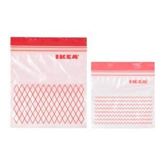 IKEA ถุงซิปล็อกสำหรับเก็บอาหารและขนม ขนาด 0.4 และ 1 ลิตร