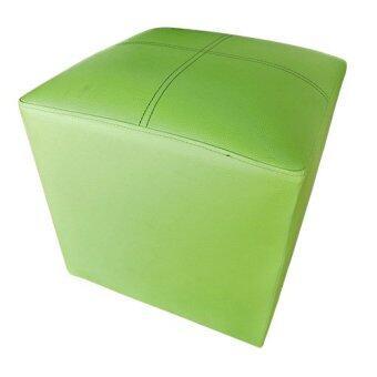 Asia เก้าอี้สตูลเบาะเหลี่ยม (สีเขียว)