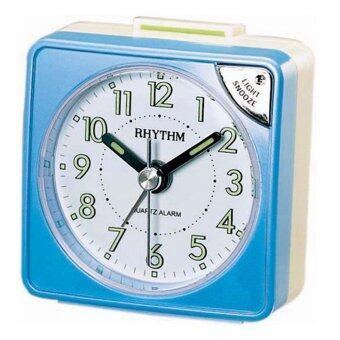 RHYTHM นาฬิกาปลุก รุ่น CRE211NR04 (Pearl Blue)