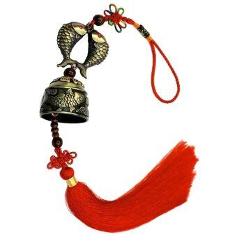 Harga Brass Fish Wind Chime Hanging Bell Charm Chinese Knot Feng Shui Ornament