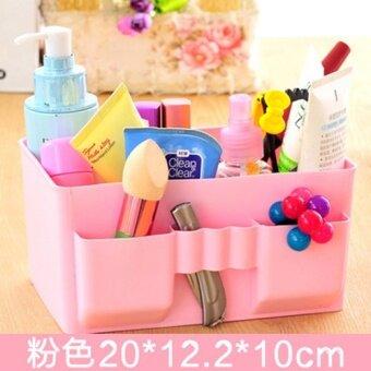 CHANEE Cosbox กล่องใส่เครื่องสำอาง ใส่ของอเนกประสงค์ สีชมพู