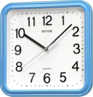 Rhythm นาฬิกาแขวนผนัง รุ่น CMG450NR04 (สีฟ้า)