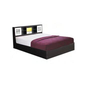 DAXTON เตียงนอน เมลามีน 5 ฟุต พร้อมที่นอนสปริงหนา 8 นิ้ว รุ่น Nextra Mattress 5 (สีโอ๊ค/ขาว)