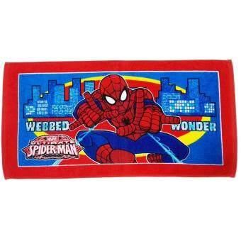 Marvel ผ้าขนหนู Spiderman SM 1402 สีแดง ขนาด 16 x 32 นิ้ว BY JHC
