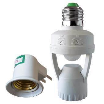 ขั้วหลอดไฟอัจฉริยะตรวจจับความเคลื่อนไหว Motion Senser lamp+ขั้วไฟมีสวิทซ์
