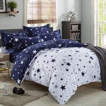Pillow Land ผ้าปูที่นอน ชุดผ้านวม 6 ฟุต 6 ชิ้น ลายดาว 009