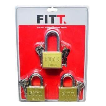 กุญแจล็อค กุญแจคล้องลูกบิด กุญแจ ลูกปืน MK FITT 50 mm. PB ทองเหลือง 3 ตัว/ชุด x 1 ชุด