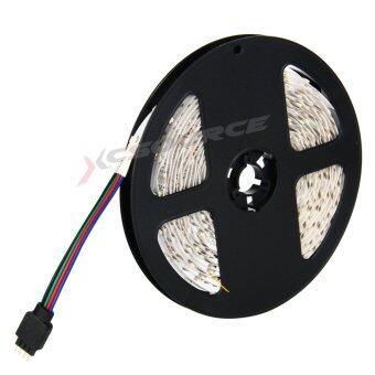 ไฟเส้น ไฟแถบ 5m 3528 RGB 60/M LED Strap Lights + 12V 2A Power supply + รีโมทคอนโทรล 24key IR EU Plug (image 1)
