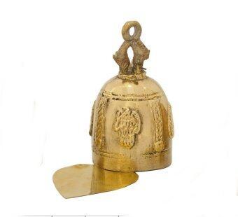 THAI BRONZE ระฆังพร้อมใบโพธิ์ทองเหลือง ขนาดกว้าง 5 ซม
