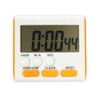 Lek and Love นาฬิกาจับเวลาทำอาหาร เดินหน้า ถอยหลัง 24 ชั่วโมง Digital Timer (สีส้ม)