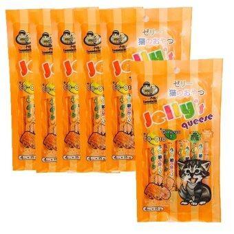 Petto tomodachi Jelly's queese แมวเลีย รสปลาแซลมอนและกุ้ง 15gx4 ( 6 units )