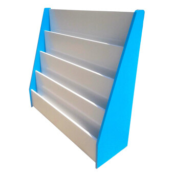 ชั้นวางหนังสือเด็ก โชว์ปก 4 ชั้น รุ่นโดริโน่ (สีฟ้า)