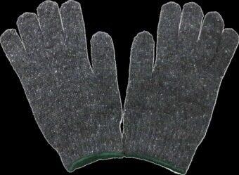 S-SHIR ถุงมือผ้าหนาพิเศษ - สีเทา (แพ็ค 12 คู่)
