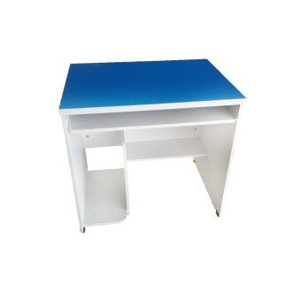 TGCF โต๊ะคอม F80X Top PVC - สีน้ำเงิน/ขาว
